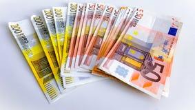 Molti soldi europei Fotografie Stock