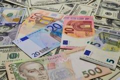 Molti soldi Molte banconote Immagini Stock
