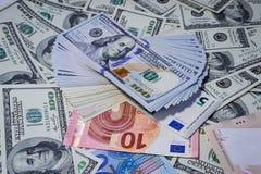 Molti soldi Molte banconote Fotografie Stock Libere da Diritti