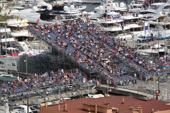 Molti spettatori guardano il Gran Premio 2016 di F1 Monaco Fotografie Stock