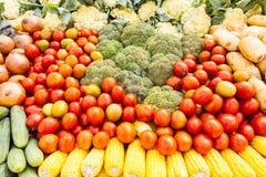 Molti tipi di verdure Fotografia Stock