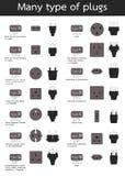 Molti tipo di spine Fotografia Stock