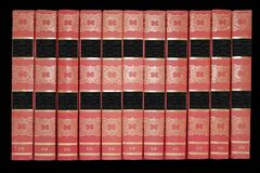 Molti vecchi libri. Fotografie Stock