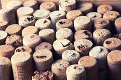 Molti wine struttura dei sugheri Immagini Stock Libere da Diritti