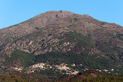 Moltifao village in Corsica mountains Stock Photo