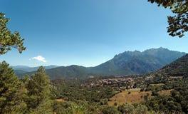 Moltifao wioska w Asco dolinie fotografia royalty free