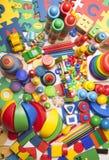 Moltissimi giocattoli Fotografie Stock