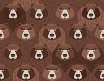 Moltitudine di orsi Modello senza cuciture degli animali Fondo di vettore royalty illustrazione gratis