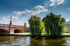 Moltke Bridge Over the Spree River in Berlin Royalty Free Stock Photo