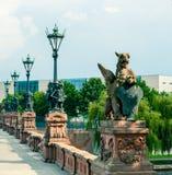 Moltkebrug in Berlijn stock afbeeldingen