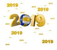 Molto beach volley 2019 progettazioni Illustrazione di Stock