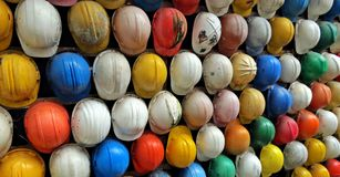 Molto casco del casco Fotografia Stock