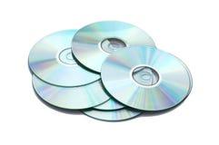 Molto CD isolato Fotografia Stock