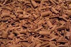 Molto cioccolato rotolato fotografie stock