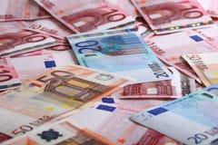 Molto euro per fondo Immagini Stock Libere da Diritti