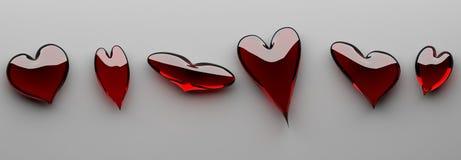 Molto figura differente del cuore Fotografia Stock