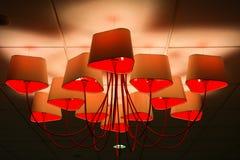 Plafoniere Rosse : Alte plafoniere rosse fotografia stock immagine di curva