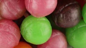 Molto lecca-lecca colorata stock footage