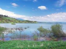 Molto livello dell'alta marea su Liptovska Mara Immagini Stock