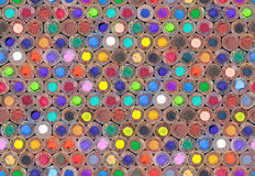 Molto luminoso delle matite di legno variopinte per disegnare Fotografia Stock