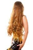Molto lungamente capelli ricci Fotografie Stock