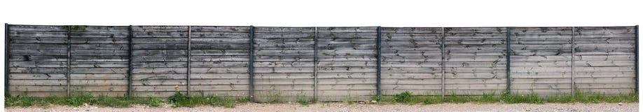 Molto lungamente recinto di legno fotografia stock