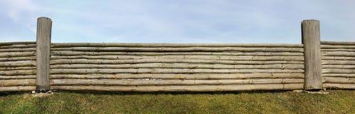 Molto lungamente recinto rurale fotografie stock libere da diritti