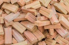 Molto mattone per il contruction di costruzione Fotografia Stock