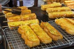 Molto pane all'aglio Fotografia Stock