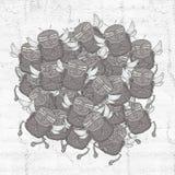 Molto tiraggio di vettore della mosca royalty illustrazione gratis