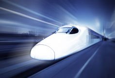 Molto treno ad alta velocità Fotografia Stock