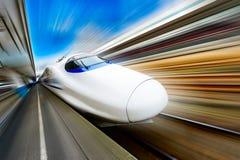 Molto treno ad alta velocità Immagine Stock