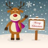 Molto un segno di Buon Natale - renna Fotografia Stock Libera da Diritti