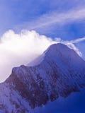 Molto vicino alla cima del ghiacciaio di Kaprun alle alpi austriache Immagini Stock Libere da Diritti
