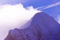 Molto vicino alla cima del ghiacciaio di Kaprun alle alpi austriache Immagini Stock