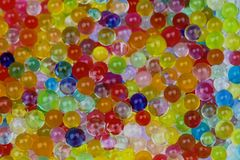 Molto Waterbeads variopinto Fotografie Stock