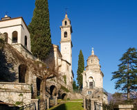 Moltrasio, view of the church Royalty Free Stock Images