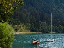 湖Molveno 图库摄影