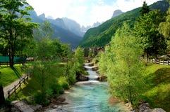 Molveno - Dolomit Italien Stockfotografie