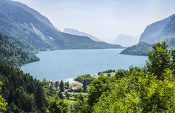 Molveno lake from above Stock Image