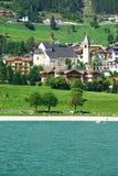Molveno lake in Dolomites, Italy Stock Photos