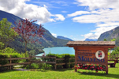 Molveno lake in Dolomites Royalty Free Stock Photo