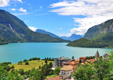 Molveno lake, Italy Stock Photography