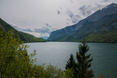 Molveno lake, Italy Stock Images