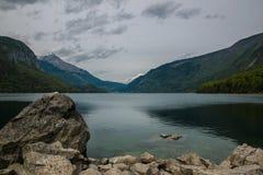Molveno lake, Italy Royalty Free Stock Images