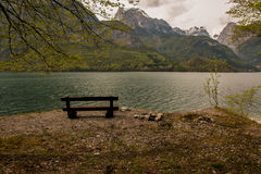 Molveno lake, Italy Royalty Free Stock Photos