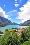 Molveno lake, Italy Stock Photos