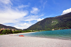 Molveno lake Royalty Free Stock Photos