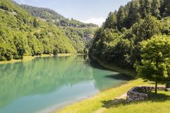 Molveno Lake Royalty Free Stock Images