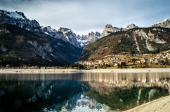 Molveno on Molveno Royalty Free Stock Images